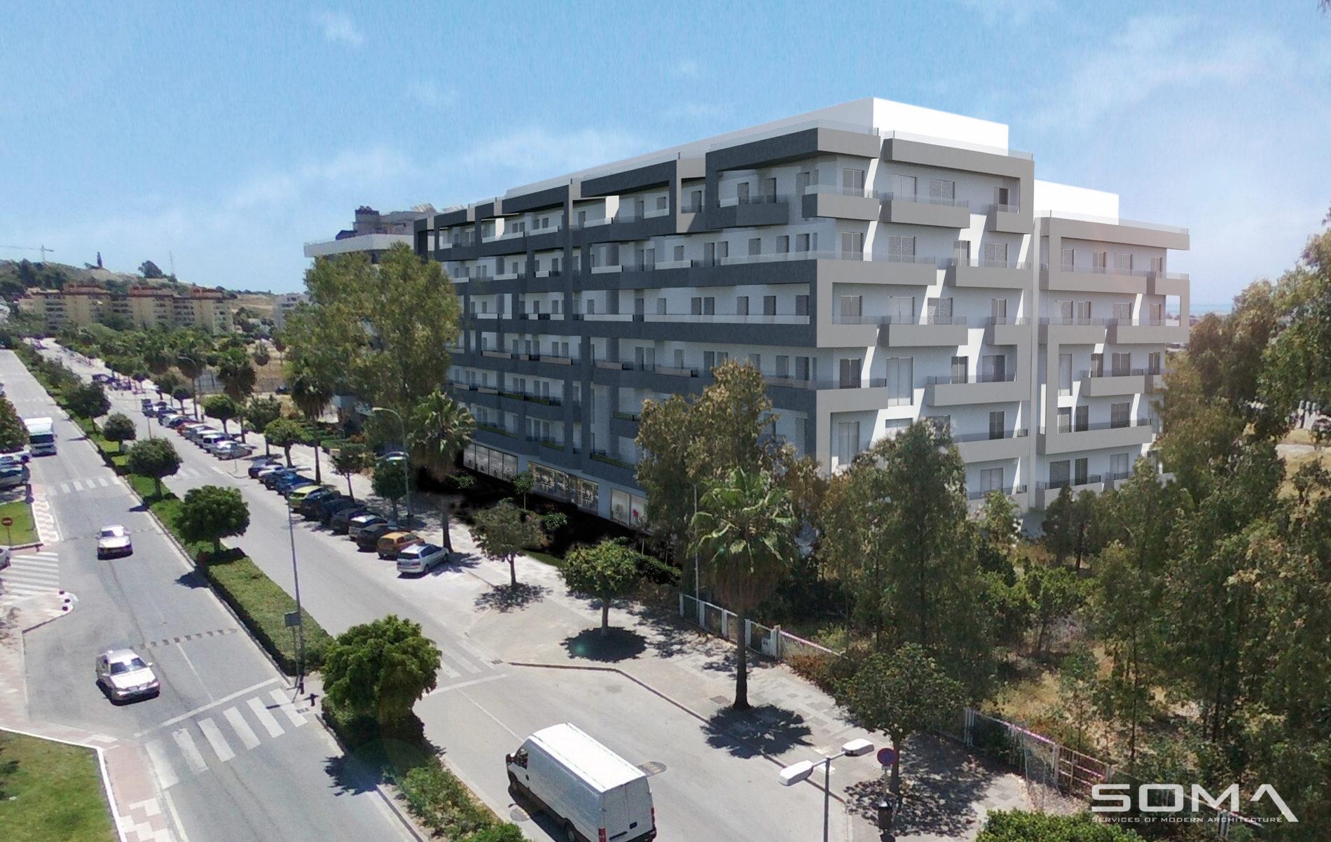 Obra nueva. Promoción de 90 viviendas, locales comerciales y garajes en Nueva Andalucía, Marbella