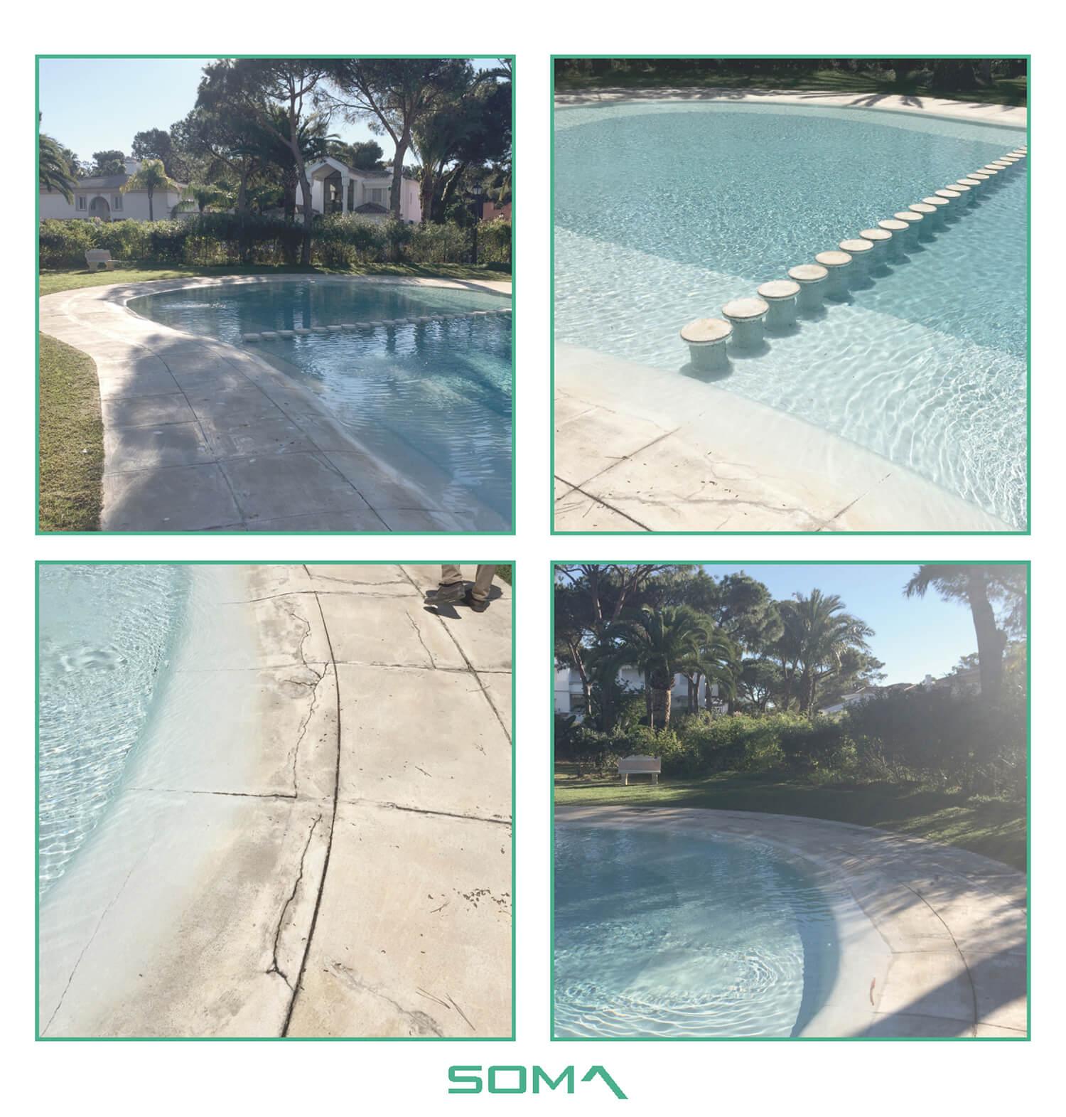 Modernización y reforma de piscina, urbanización El Presidente, Estepona