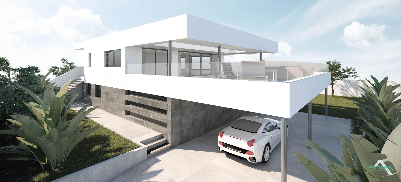 Obra nueva. Villa en Nueva Andalucía, Marbella